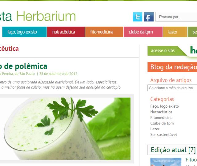 21/09/2012 - Revistas Herbarium - Um Copo de Polêmica